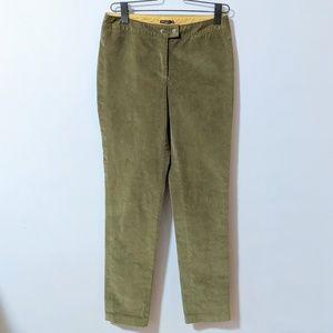 J. McLaughlin Green Soft Courdory Pants